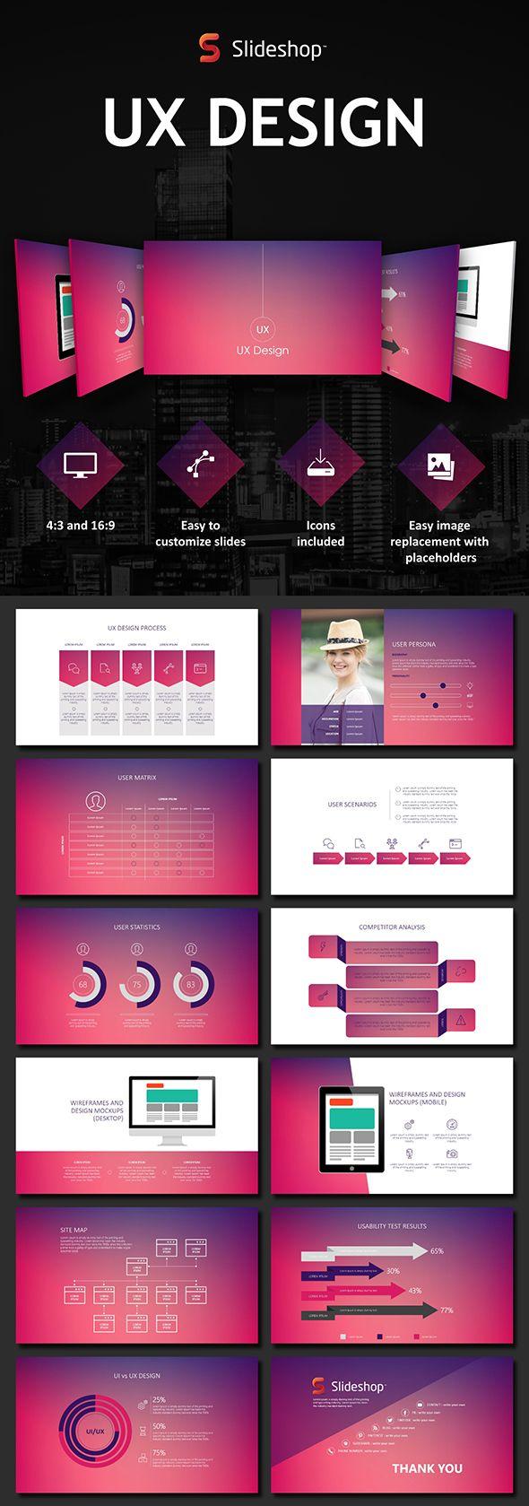 ux design - powerpoint templates presentation templates, Presentation templates