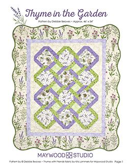 Thyme in the Garden free pattern by Debbie Beaves uses Thyme with ... : debbie beaves quilt patterns - Adamdwight.com