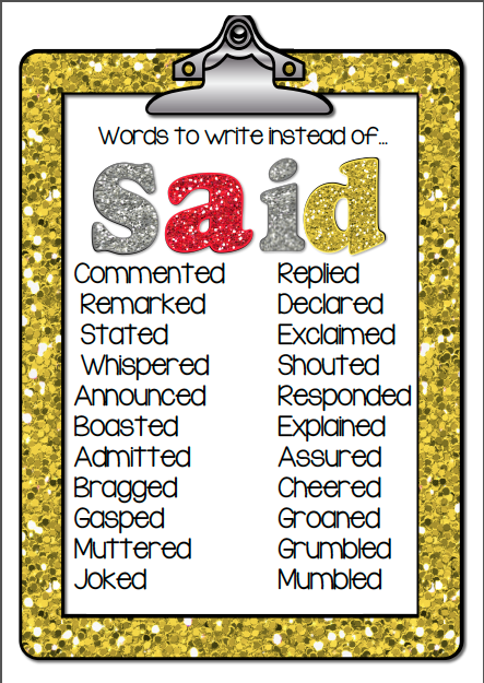 good words to use in writing