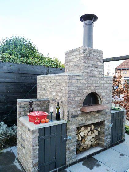 Tuinhaard pizzaoven maken tuin pinterest ovens tuin en buiten - Buitenkant terras design ...
