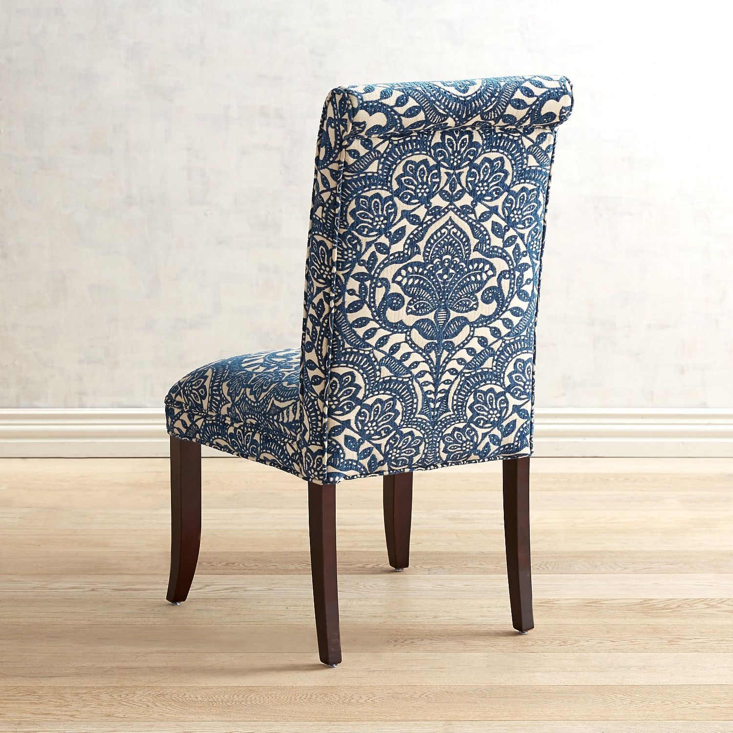 Best Angela Navy Blue Trellis Dining Chair In 2020 Chair Patterned Chair Accent Chairs For Living 400 x 300
