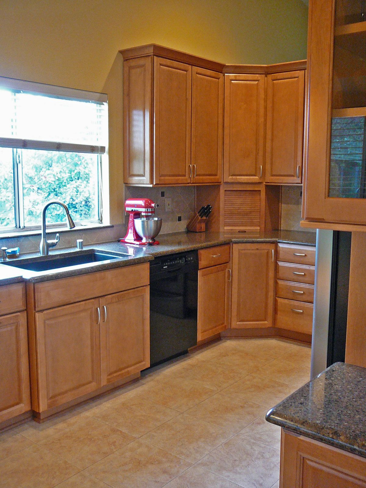 Honey Oak Kitchen Cabinets Here Is Another Kitchen Corner With A