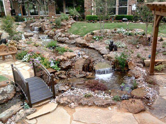 Le jardin avec bassin aquatique 99 id es de d coration am nagement de jard - Amenagement bassin de jardin ...