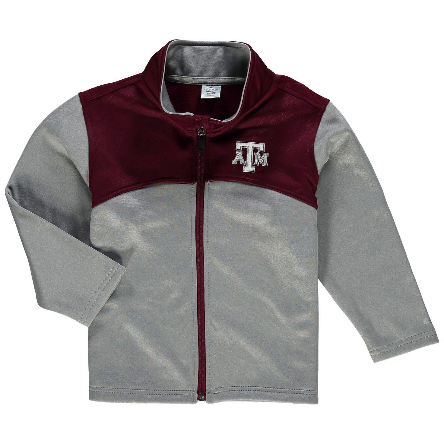 Texas A&M Aggies Colosseum Toddler Sleet Full-Zip Fleece Jacket - Gray/Maroon - $27.99