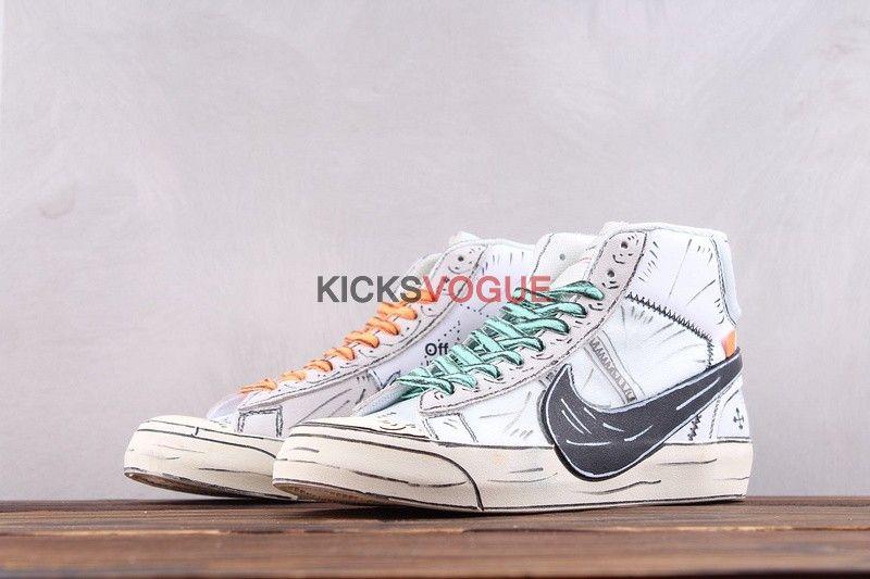 Custom Hand Painted Off White x Nike Blazer Mid 10X | Nike