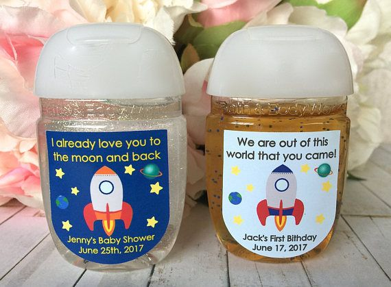 Outer Space Party Astronaut Party Favor Label Outer Space Baby