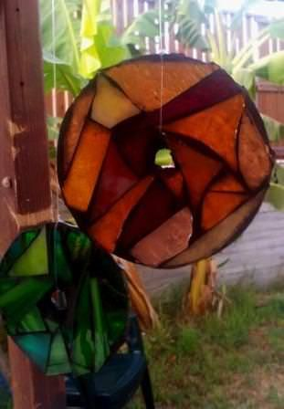 Mosaic Glass With Recycled Cd's #recycledcd