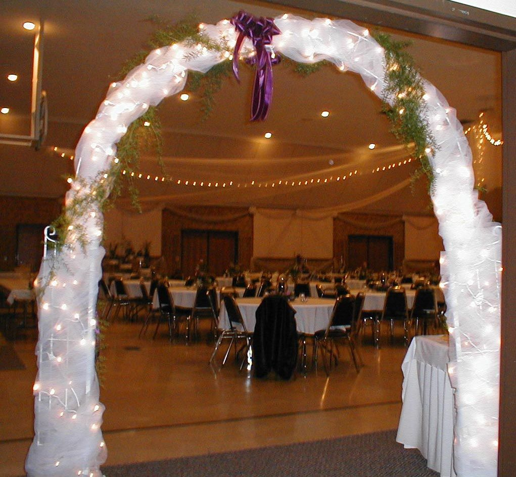 Indoor Wedding Ceremony Arch Decorations