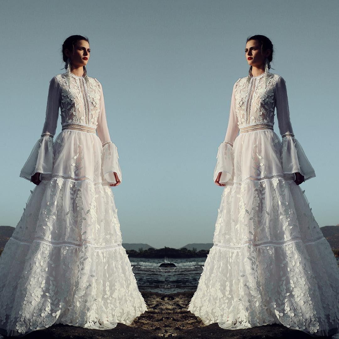 Costarellos Bride impeccable!  #costarellos #costarellosbride #bride #fall2017 #bridal #collection #weddingdress #novia #boho #bohochic #
