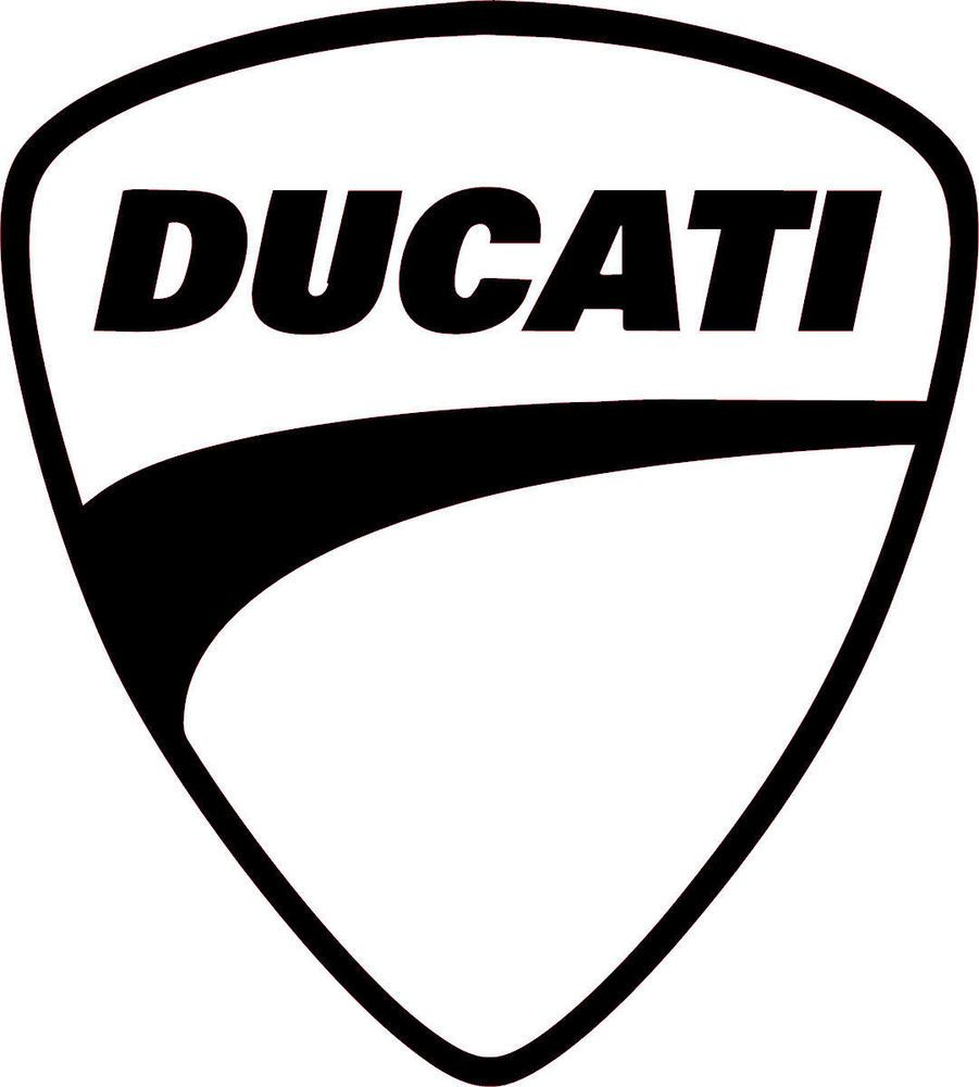 Ducati Multiple Colors Vinyl Sticker Decal Logo Racing