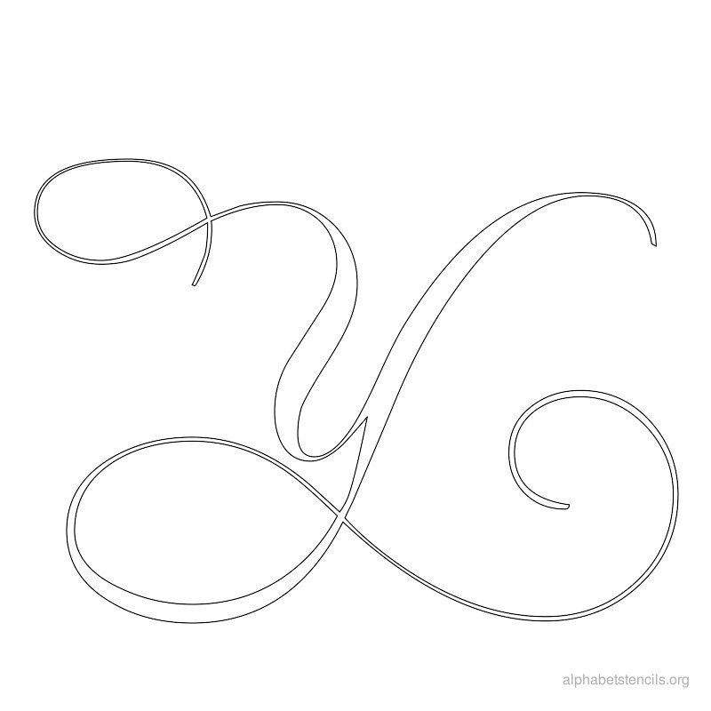 Print free alphabet stencils calligraphy y alfabeto