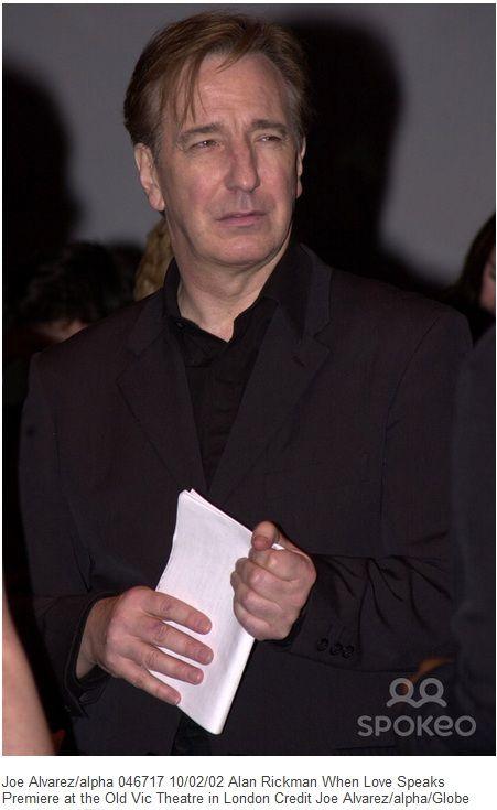 Alan 2002 Alan Rickman Alan Alan Rickman Severus Snape