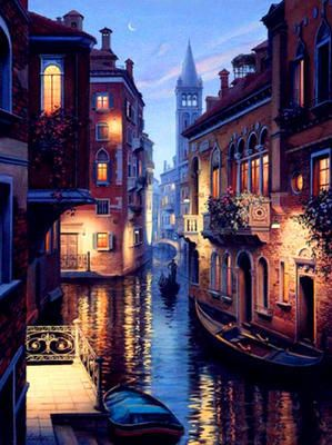 "Картина раскраска по номерам ""Венеция ночью"". Картина по ..."