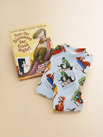 FOR MY NEPHEW who's too far away from me to still read him to sleep... a gift to help Grandma do it for me. [Books To Bed - Toddler's & Little Kid's How Do Dinosaurs Say Goodnight PJ & Book Set] Saks.com