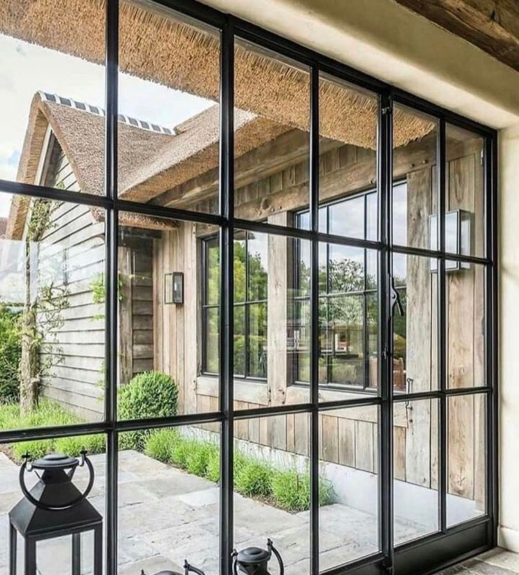 Breezeway Could We Do Something Like This Around The Pit Bar House Entrance House Exterior Windows And Doors