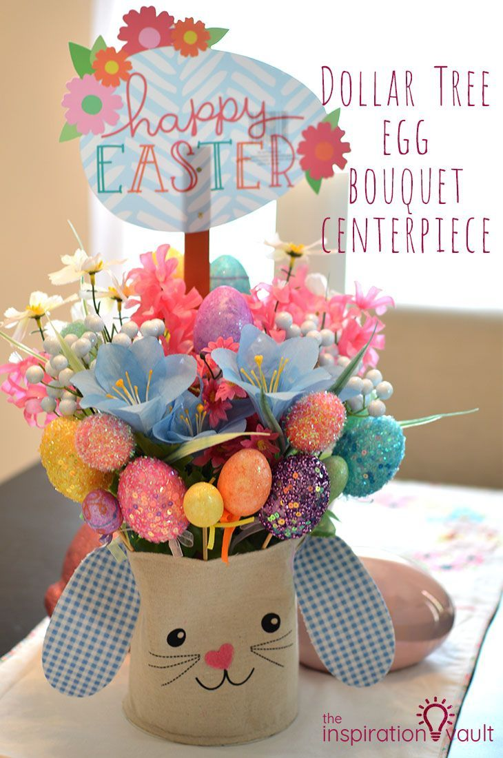 Dollar Tree Egg Bouquet Centerpiece Diy easter