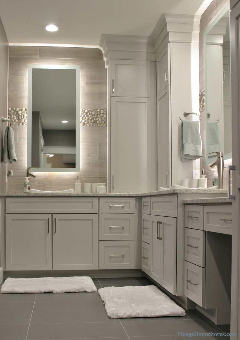 Durasupreme Cabinetry And Custom Backlit Mirrors In Davenport Fascinating When Remodeling Bathroom Where To Start 2018