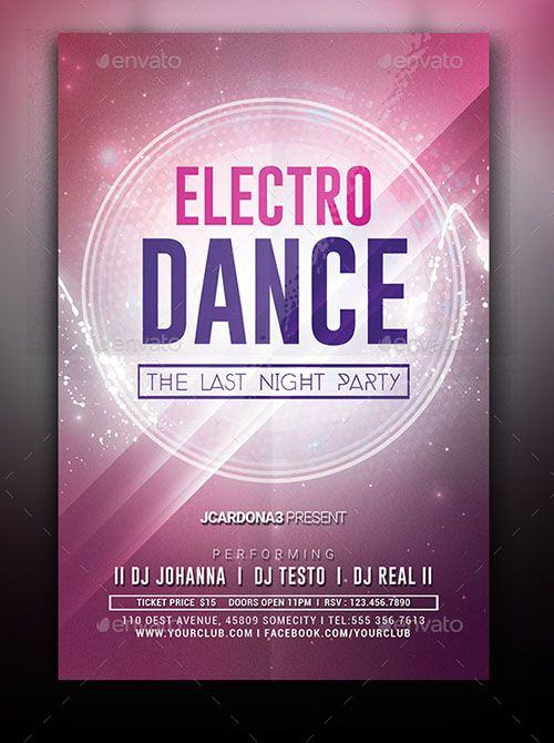 Electro Dance Flyer Design Do You Know How To Dance Then You Are