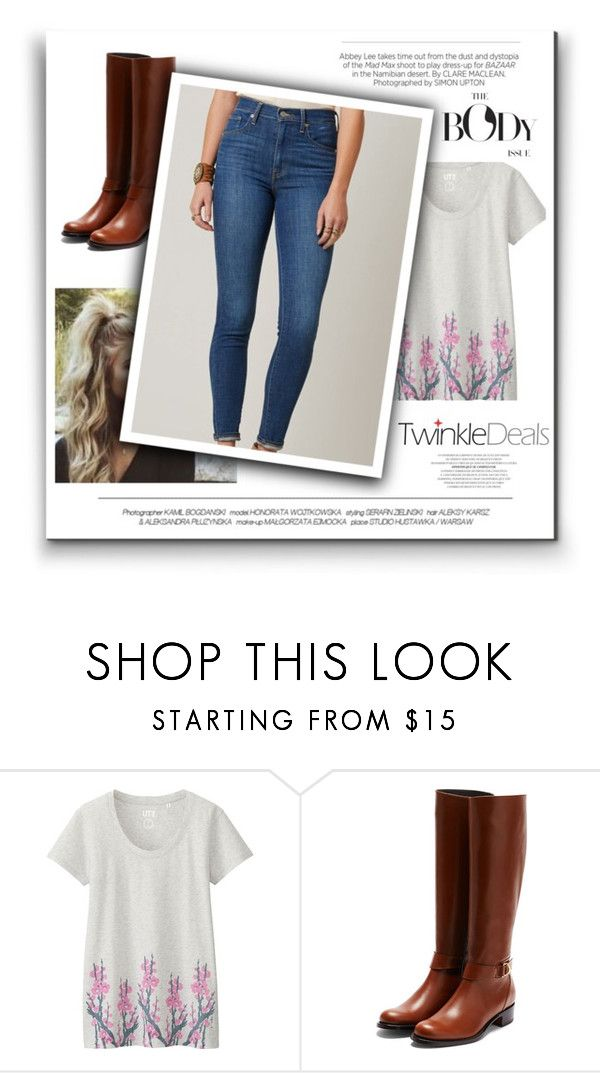 """""""Hey Boo"""" by faithblank ❤ liked on Polyvore featuring Uniqlo, Rupert Sanderson, Levi's, Kershaw and plus size clothing"""