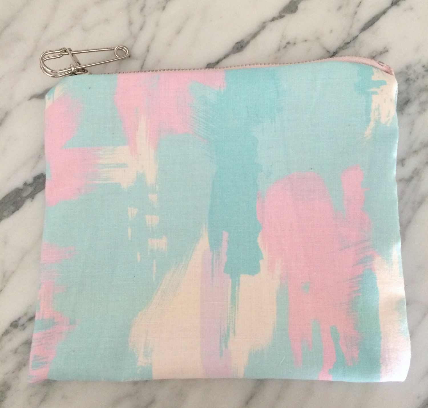 Teal & Pink Zipper Pouch Teal and pink, Ted baker icon