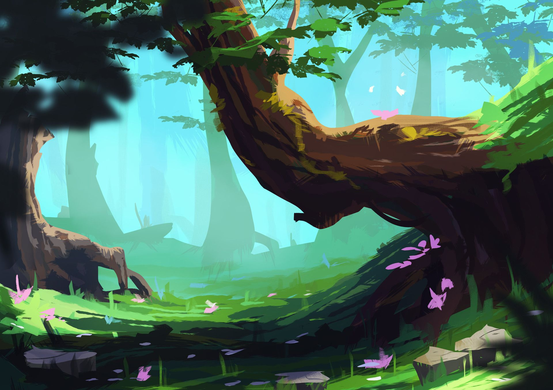 Artstation Forest Concept Art Elise Mathez Environmental Art Jungle Art Art