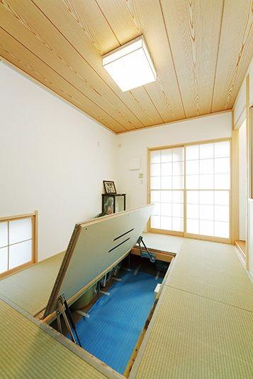 和室の床下収納 タタミルーム 床下収納 ホームデコレーション