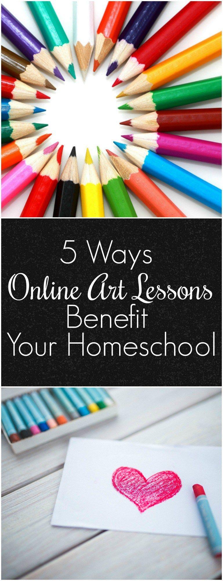 5 ways online art lessons benefit your homeschool art