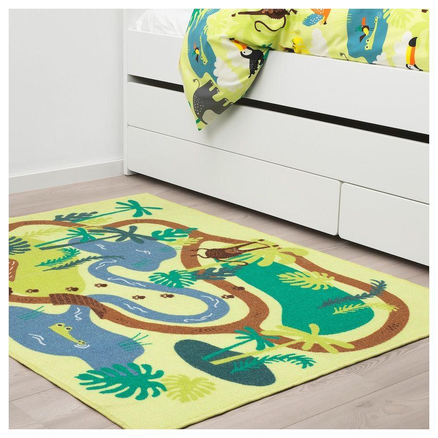 Djungelskog Tapis Poils Ras Jungle Arbre 133x100 Cm Tapis Tapis Enfant Ikea