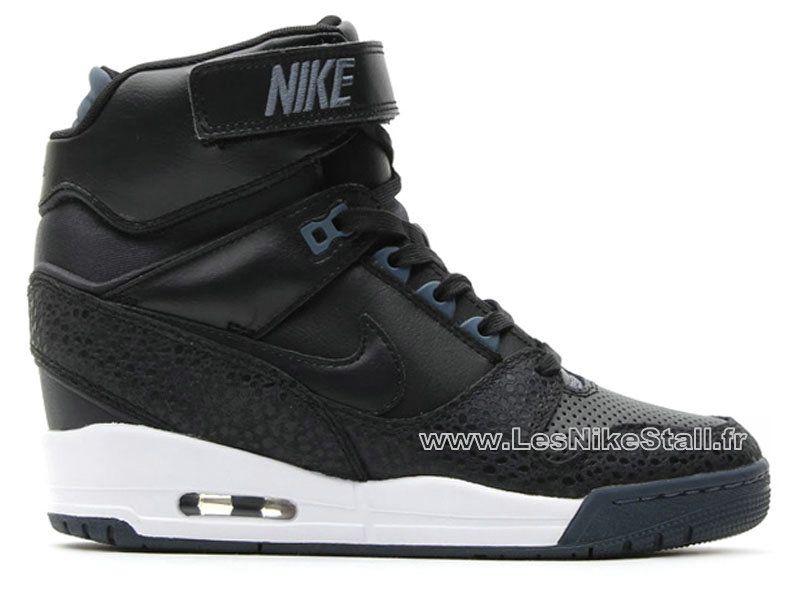 the best attitude 14047 58ccf Officiel Nike Air Revolution Sky Hi GS Chaussures Nike Pas Cher Pour Femme  NoirBlanc 599410-003