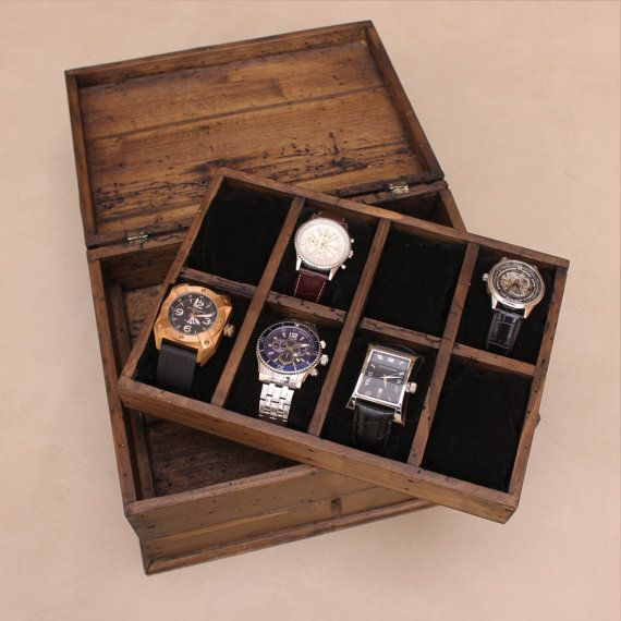 Personalized Rustic Men S Watch Box For 8 By