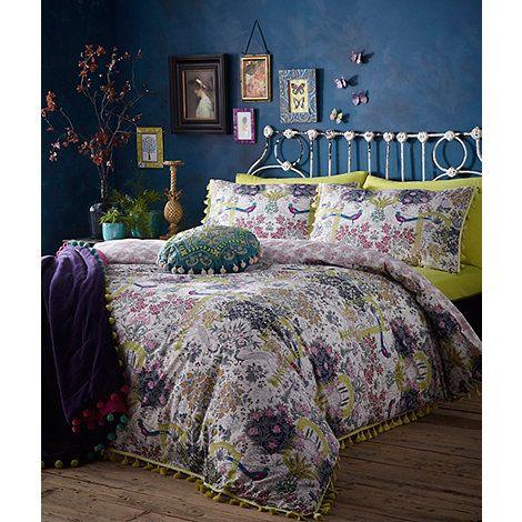 Butterfly Home By Matthew Williamson Multi Coloured Floral Print U0027Secret  Gardenu0027 180 Thread