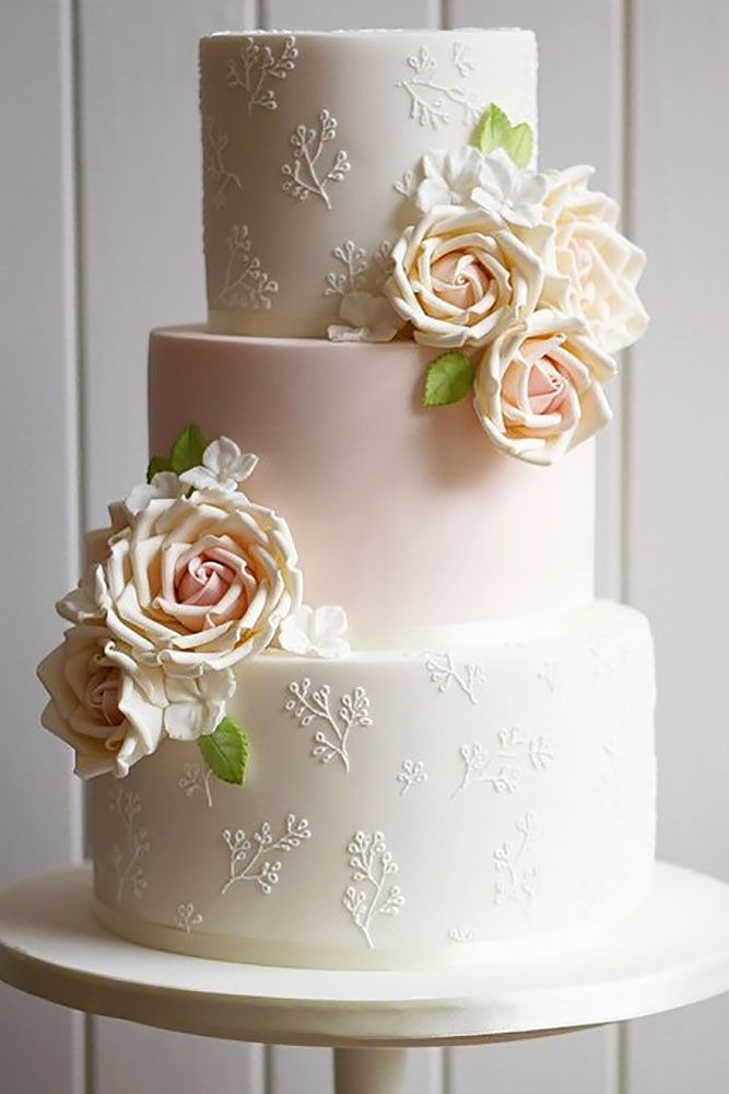 33 Simple Romantic Wedding Cakes   Wedding Cakes, Pink ...