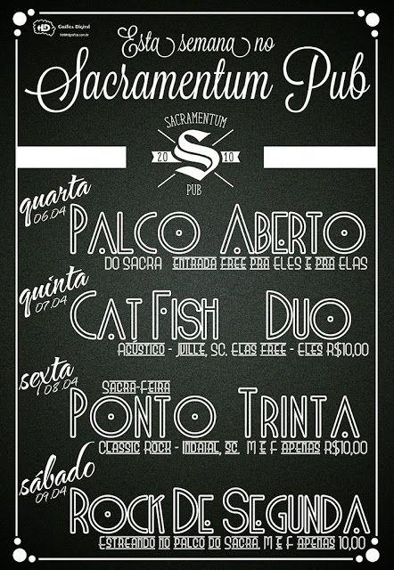 Sacramentum Pub: Esta semana no Sacramentum Pub - Jaraguá do Sul, S...