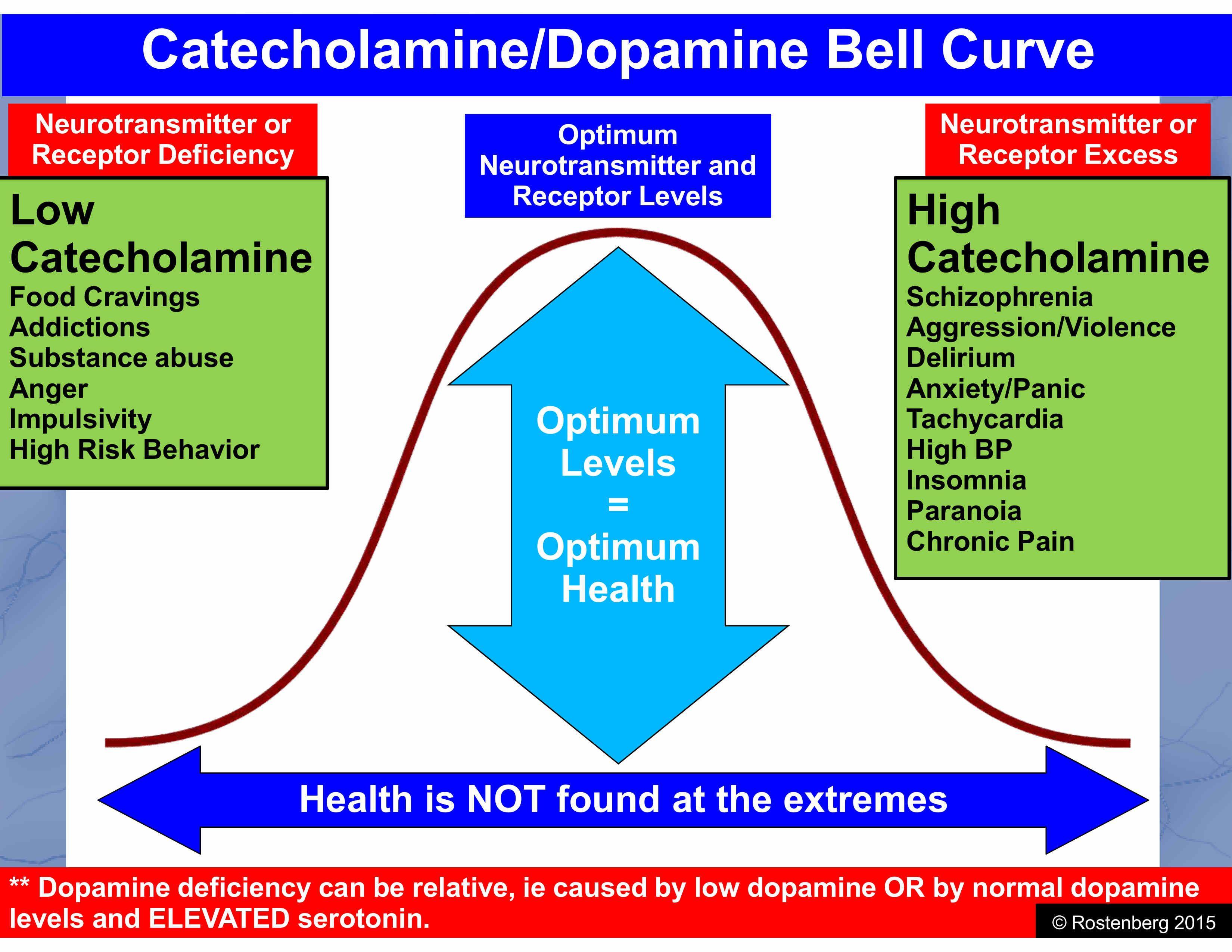 Catecholamine Dopamine Bell Curve   methylation