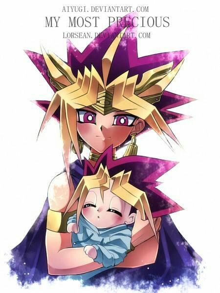 Pharaoh Atemyami And Baby Yugi Yu Gi Oh Fan Comics Anime