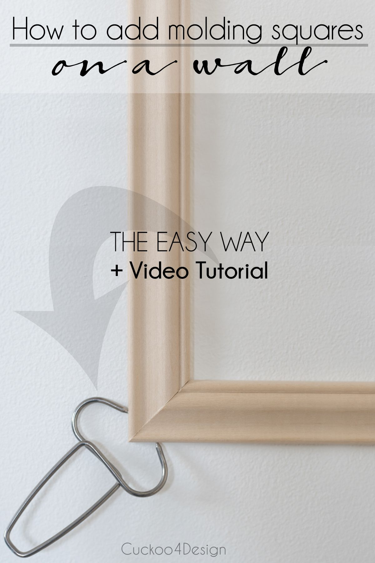 How to install wall moulding the easy way Wall molding