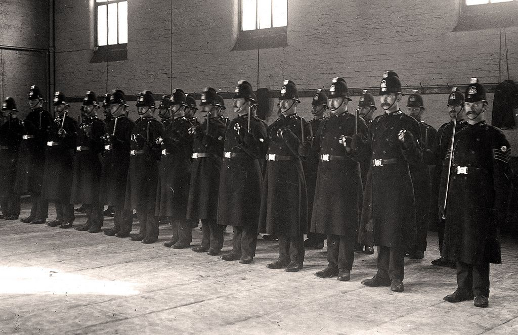On Parade In 1910 Manchester Police Police Uniforms Police