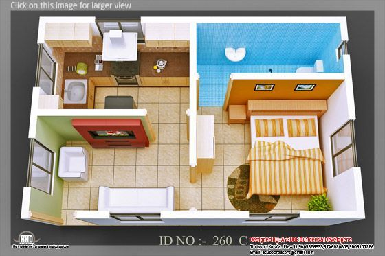 3d Isometric Views Of Small House Plans Small House Design Small House Plans Small House Floor Plans Smart floor plans for small houses