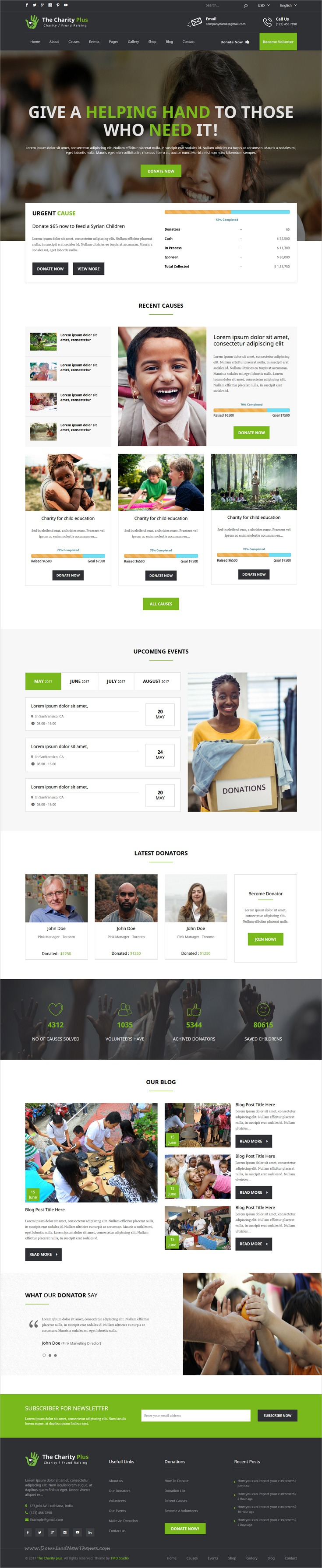 buy charity non profit organization psd template by tmdstudio on themeforest charity non profit organization psd template have elegant and modern