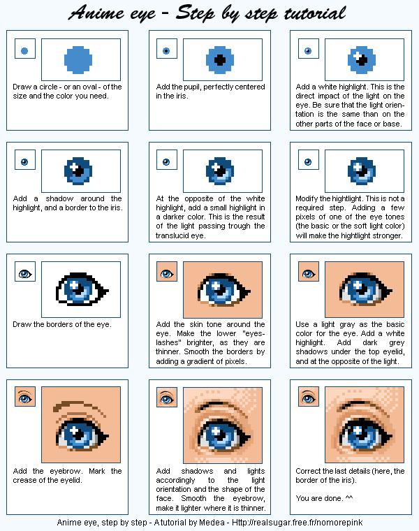 Pixel Anime Eye By Meririm On Deviantart Anime Eyes Pixel Art Pixel Art Characters