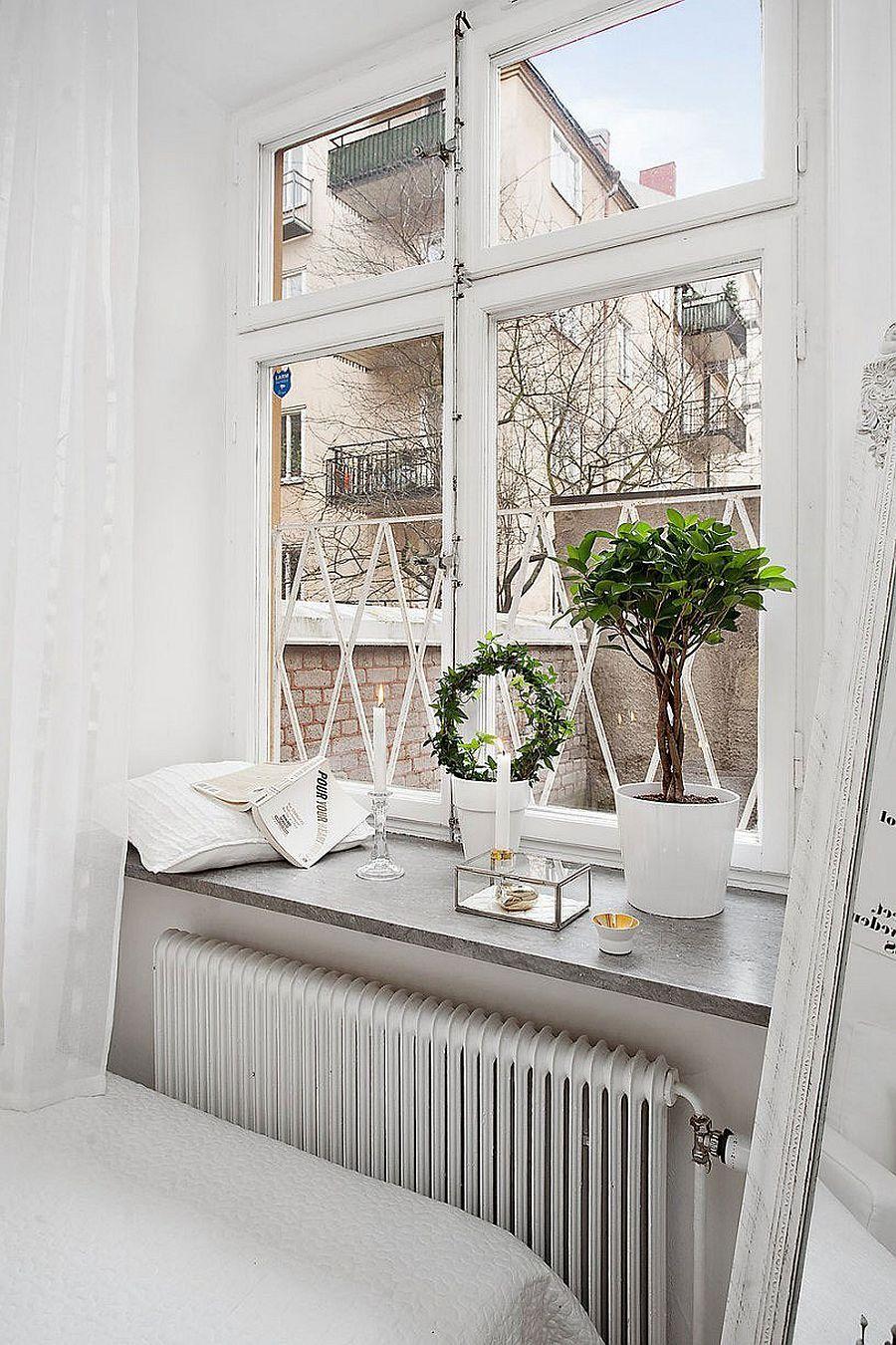 20 Sqm Apartment In Stockholm With Scandinavian Design Window Sill Decor Interior Windows Bedroom Decor