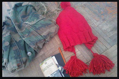 Gorro Coya-  Coya hat, handmade.