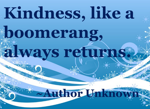 Kindness Like A Boomerang Always Returns Quote Kindness