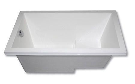 The cabuchon calyx deep soaking bath is the minimalist for Deepest bathtub available
