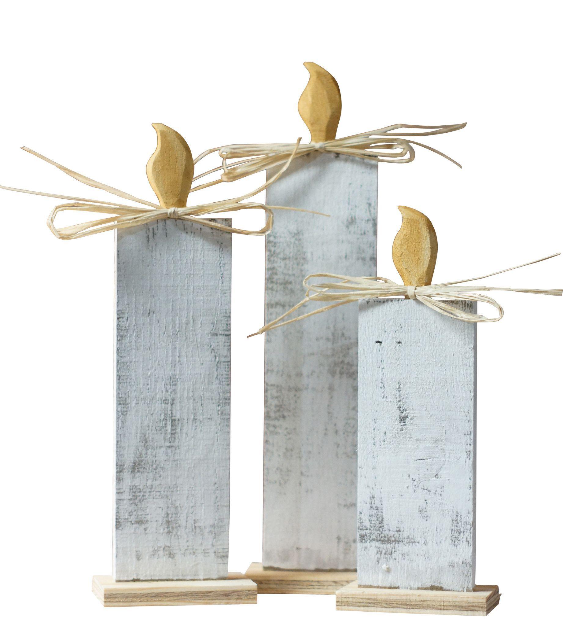 Wood christmas candles rustic christmas decor decoraÇÕes de