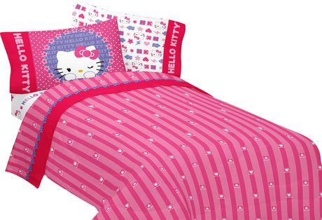 Ensemble De Draps Kitty And Me Pour Lits Jumeaux De Hello Kitty
