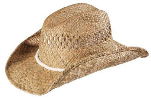 Kenny Chesney Women s Puka Shell Band Straw Cowboy Hat Natural L X Open  Weave Cattleman Straw Hat Styling. Hawaiian island inspired white puka-style  shell ... 408b6aa5573