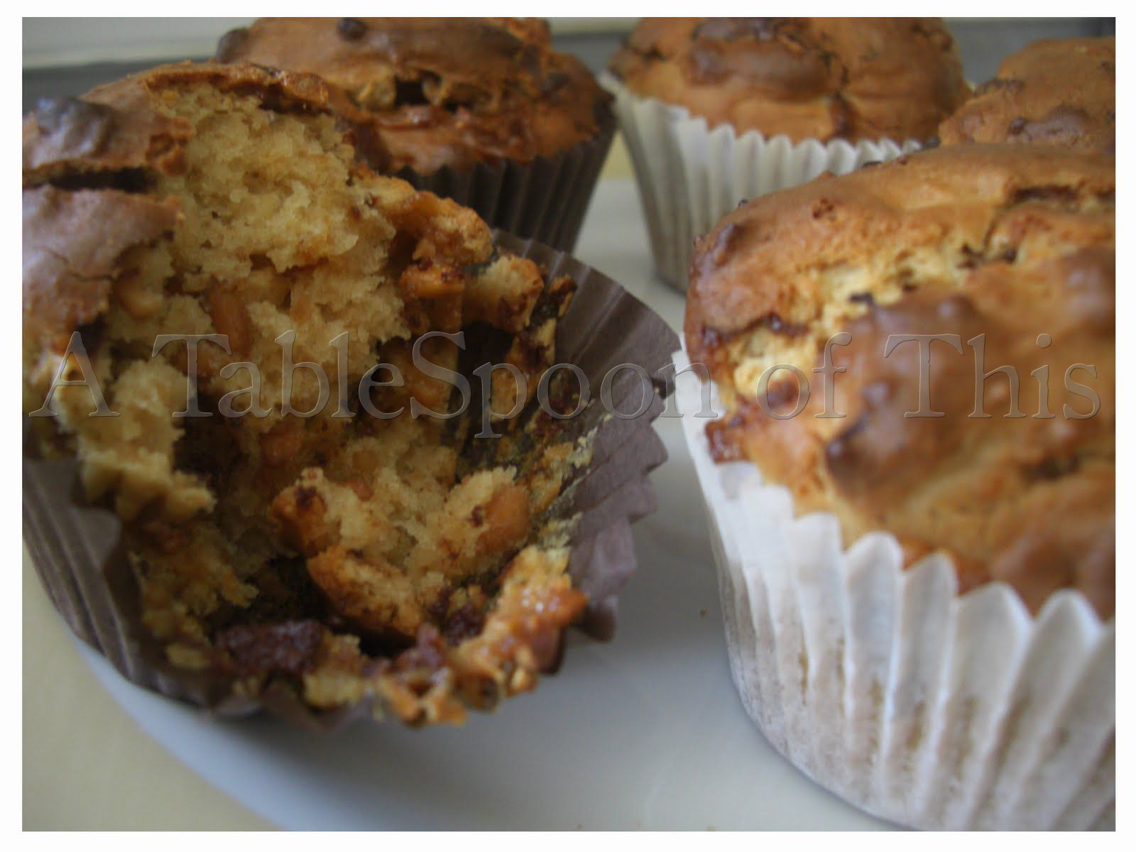 A TableSpoon Of This: Peanut butter and Snickers muffins