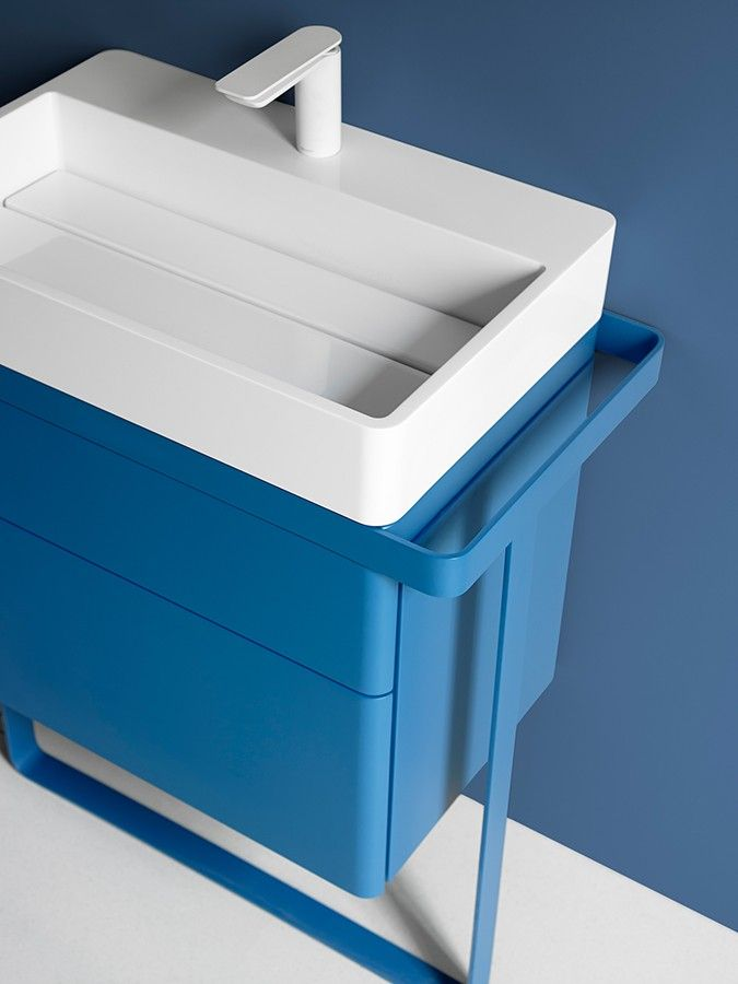 New Structure collection #washbasin #bathroom #design #blue About