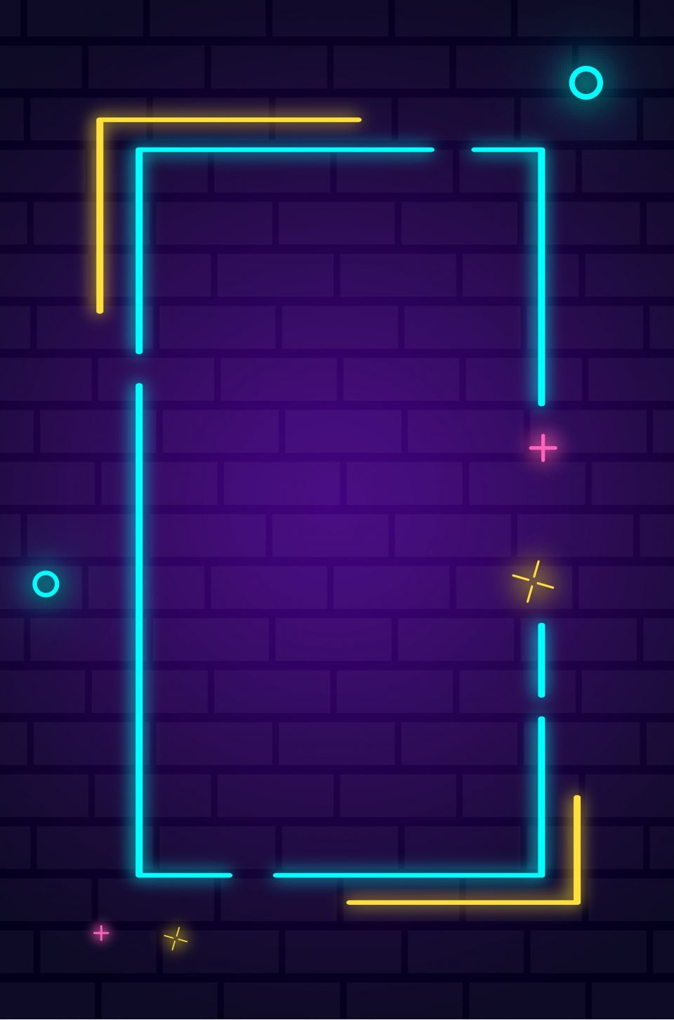 Neon background wall poster background